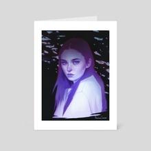 Beats on this sad song - Art Card by Fernanda Suarez