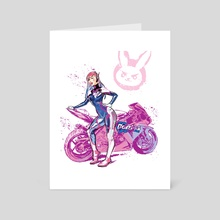 D.Va - Art Card by fleshybits