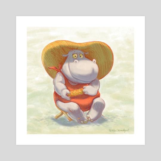 Lady Hippo by Natalya Chernobryvets