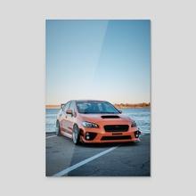 Lakeside Subarus #2 - Acrylic by Preston Collins