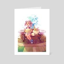 Lost in Celadon - Art Card by Kanda Em