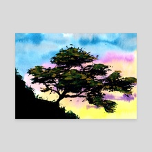 Summer Tree Hill - Canvas by Sebastian Grafmann