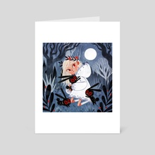 Back to the moon - Art Card by David Sierra