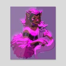 Pink Catra - Acrylic by Mgtxs