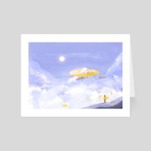 Stroll through the sky - Art Card by Cathy Tran