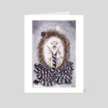 Knitting Hedgehog - Art Card by Dylan Meconis