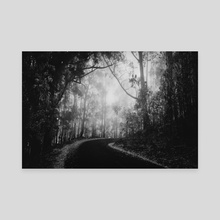 Misty Dark Road - Canvas by Diogo Pereira