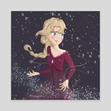 Elsa Frozen fanart  - Canvas by Drawing Cristina