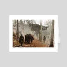 1920 - into the wild - Art Card by Jakub Różalski