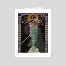 the swordsman  - Art Card by Caleb