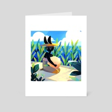 Summer Bunny No 11 - Art Card by Jelena Hallmann-Haeschke