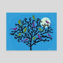 The Night Birds - Canvas by Oliver Lake