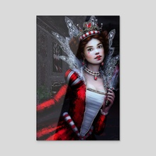 Killer Queen of Hearts - Acrylic by Tanya Varga
