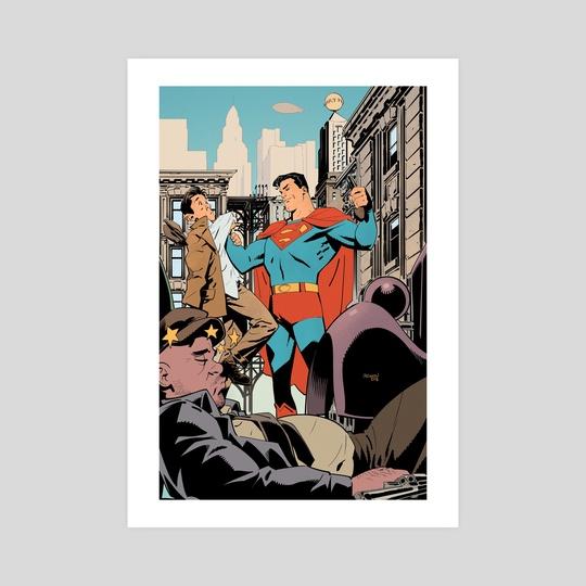 Superman Saves The Day by Gleb Melnikov