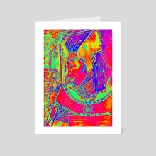 Prominent King- Fused Contrasts - Art Card by Masarah Artistry