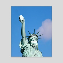 Statue Of Soap - Canvas by Justin Peters