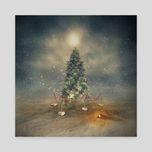 The last Christmas tree - Canvas by Even Liu