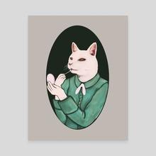 Cat Lip - Canvas by Min Morris