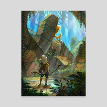 Encounter in the ruins - Canvas by Rouche Ben