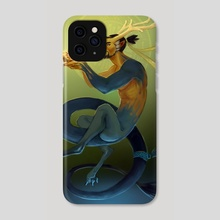 Shimada Dragon - Phone Case by Katie Smirnova