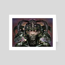 Biomechanical Bust - Silence  - Art Card by Perspex