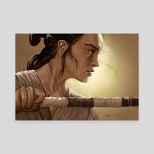 rey - Canvas by Miguel Blanco