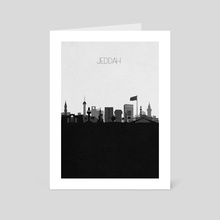Jeddah - Art Card by Deniz Akerman