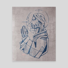Jesus Christ Praying - Canvas by Bernardo Ramonfaur