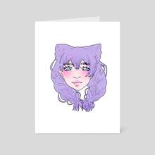 Braids Gal - Art Card by fairy