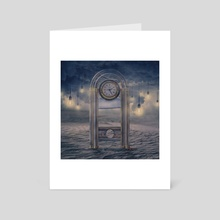 Guillotine clock - Art Card by Jared Sandoval