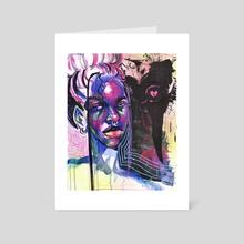 HeartBroke in the mirror - Art Card by Tiara Francois