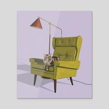 Oscar - Acrylic by Kristin  Eriksson