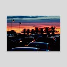 Urban Sunset Scene, Punta del Este - Uruguay - Canvas by Daniel Ferreira Leites