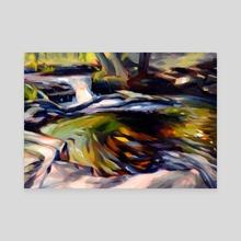 River  - Canvas by Martha Wirkijowski