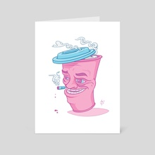 Coffee & Cigarettes - Art Card by Andrew Barnhart