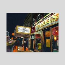 Jakes at Night  - Canvas by Chris Gentes