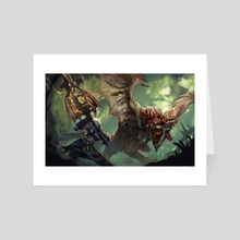 Monster Hunter-Rathalos ChargeBlade - Art Card by CGlas