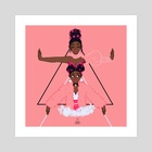 pynk - Art Print by coloured braids