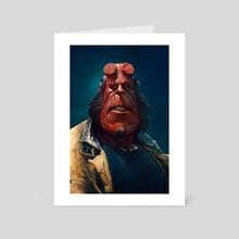Hellboy - Art Card by Ralph Kim