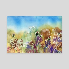 Thistle Study - Canvas by Jennifer Gibson