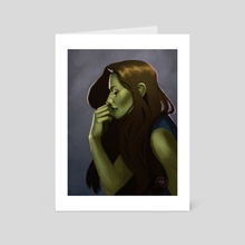 Elphaba 3 - Art Card by Mali Ware