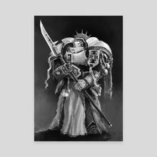 Grey Knight - Canvas by Živko Kondić