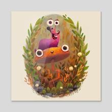 Slug buddy - Acrylic by Azbeen Azbeen Falegos