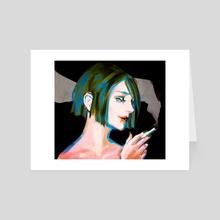 Up In Smoke - Art Card by Meemsdraws