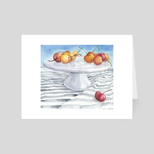 Rainier Cherries - Art Card by Terri Nelson