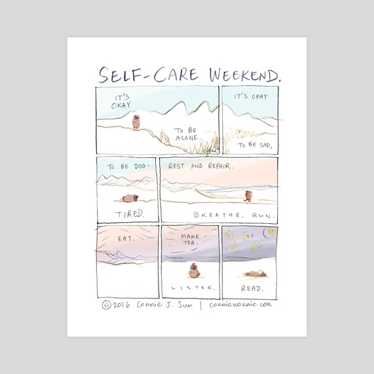 Self-Care Weekend by Connie Sun