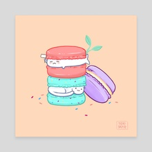 Macarons - Canvas by Teri Sky