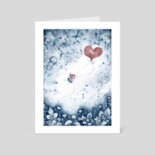 Hearts - Art Card by nat zufall