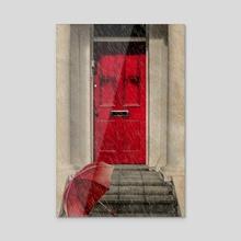 London Door - Acrylic by Valérie KARAKATSANIS
