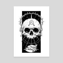 Skull & Heart - Canvas by Kacper  Gilka